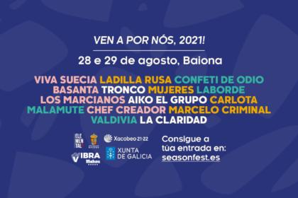 Cartel de Barbeira SeasonFest, con Los Marcianos